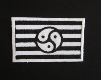 Black and White BDSM flag Iron on Patch
