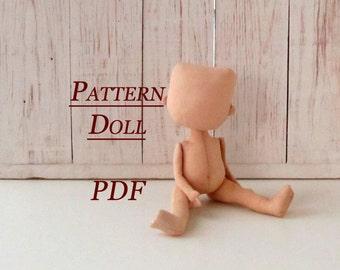 Lerika Dol l -PDF - Sewing Pattern - Rag Doll Pattern pdf - Pattern Doll Body - Blank Rag Doll - PDF Doll Body - Doll Form