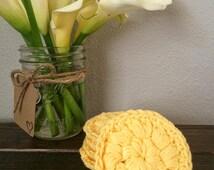 Crochet Scrubbies, Face Scrubbies, Cotton Cosmetic Pads, Crochet Face Scrubbies, Set Of 5 Face Scrubbies