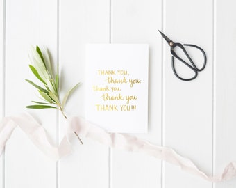 Gold Foil 'Thank You' Card