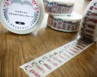Mariko Ueda Original Kokeshi Doll Washi Tape