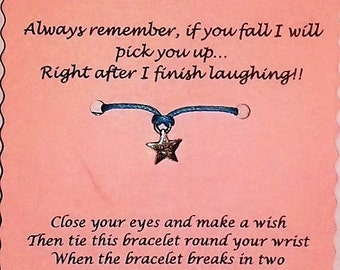Friend Gift, Friendship bracelet, Friend Wish Bracelet, Charm bracelet, Friend Keepsake Card, Friend bracelet, Friend Jewelry, Gift Friend
