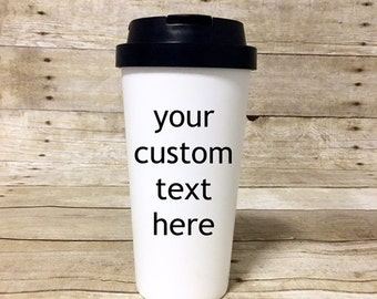 Custom Personalized Travel Coffee Mug