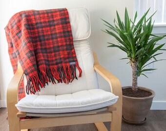 Vintage Red Pendleton Blanket // RARE Pendleton // Boho Wool Blanket //  100% Virgin Wool Blanket // Boho Woven Blanket // Picnic Blanket