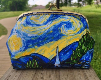 Starry Night Coin Purse Large