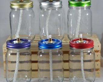 Mason Jar Tiki Torch - Clear Pint