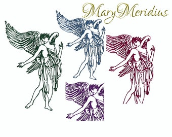 Guardian Angel Wings~Heaven~Machine Embroidery Design Download~MaryMeridius~4 designs~4x4 5x7 9x6~romance~Love~valentines day~gift~memorial