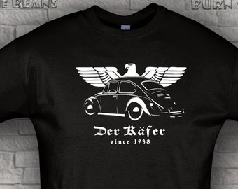Bug classic beetle Tshirt Kafer airdooled muscle black  t shirt S - 5XL