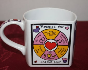 Dakin Hearts Recipes For Red-Hot Love Spin The Wheel  Multi-Color Unusual  Design Mug Cup Stanley Papel