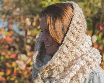 The oversize cowl/ Hooded scarf Halifax