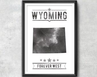 WYOMING State Typography Print, Wyoming, Typography Poster, Wyoming Poster, Wyoming Art, Wyoming Gift, Wyoming Decor, Wyoming, Wyoming Love