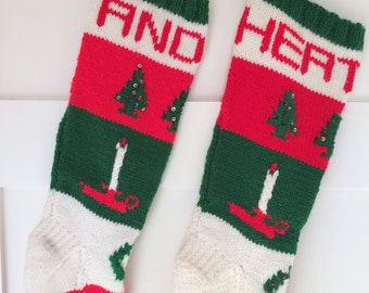 Personalized Hand Knit Christmas Stockings -  Sold Out for  2017