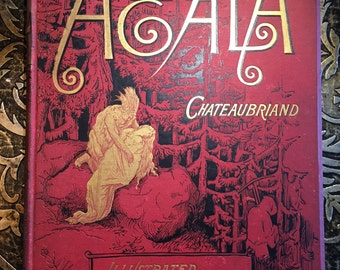 Atala by Chateaubriand, Illustrated by Gustave Dore, c1891, w/ Custom Slipcase