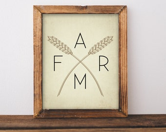 Farm Wall Art magic farmhouse art print rustic wall art farm painting