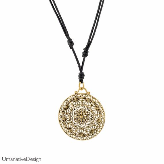 Sacred geomatry necklace. spiritual jewelry. yoga necklace. lotus necklace gold. sacred geometry jewelry. hippie jewelry. boho necklace.
