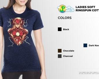 The Flash Shirt | PREMIUM QUALITY | Barry Allen | Grant Gustin | DC Comics | Superhero | Comic Tee | Geek Clothing | T-Shirt | Geek Tee