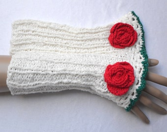 fingerless gloves, arm warmers, fingerless mittens,romantic gloves