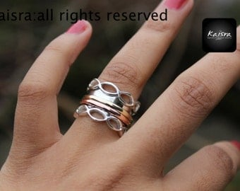 Meditation Ring, Spinner Ring, Sterling Silver Ring,