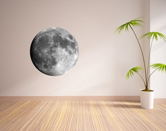 Moon Vinyl Wall Decal - Multiple Sizes