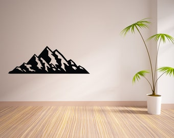 Mountain Vinyl Wall Decal - Hiking Nature Vinyl Wall Decal