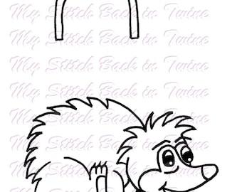 Digital stamp colouring image - Underland Polo Hedgehog. jpeg / png