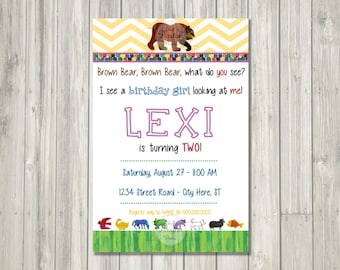 Brown Bear, Brown Bear Birthday // DIGITAL INVITATION