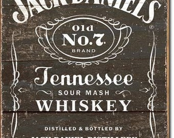 "Tin Sign "" #S1916 Jack Daniel's Whiskey Old No. 7 "" 16""x12"""