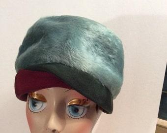 75% Off Sale Vintage Genuine 1950s Jacques Fath Museum Piece Fur Felt Wool Cloche Hat