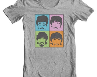 The Beatles Shirt 8 Days a Week John Paul George Ringo Fab Four Sgt. Pepper Rock and Roll tshirts Rock Art Beatlemania Beatles Band