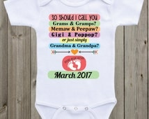 Pregnancy Announcement Onesie baby onesie So should I call you Pregnancy Announcement Grandparents to be Pregnancy Reveal