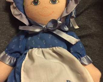Nabisco Blue Bonnet Sue cloth stuffed doll -advertising doll-1986