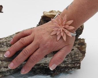 Clay polymer clay flower bracelet