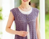 Woman's Crochet Vest, Japanese Crochet Pattern PDF, Charts Only, Women's Crochet Top Vest Diagram Pattern Instant Download PDF - nr.483