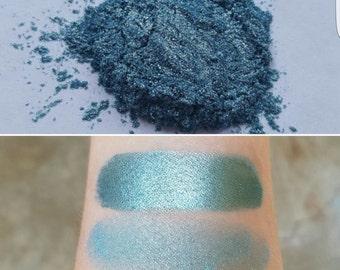 Mermaid Scales - Blue-Green, Mineral Eyeshadow, Mineral Makeup, Pressed or Loose