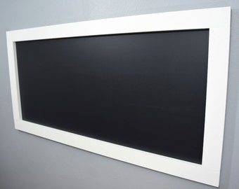 Large White Framed Chalkboard - Large Chalkboard - Kids Chalkboard -White Chalkboard - Long Chalkboard - Kitchen Chalkboard - Playroom Chalk