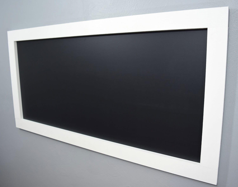 Framed chalkboard for kitchen - Large White Framed Chalkboard Large Chalkboard Kids Chalkboard White Chalkboard Long Chalkboard