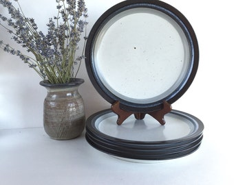 Rare Otagiri Moonlight Stoneware Dinner Plates Set of 5, Vintage Otagiri Moonlight Plates