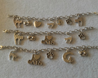 Cat Bracelet; Kitty Bracelet; Cat Lovers Gift; Cute Cat; Gift For Her; Made in Italy