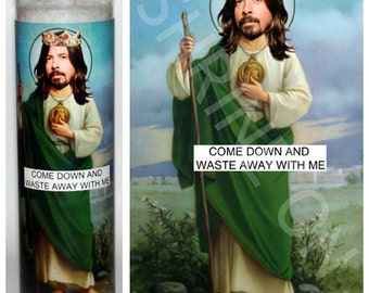 Dave Grohl Foo Fighters Celebrity Prayer Candle