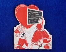 1930's Victorian School Room Valentine Card Lollipop Holder E. Rosen Company, Providence, RI