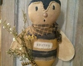 Primitive Bumble Bee Spring Cloth doll Spring flower Faap Hafair