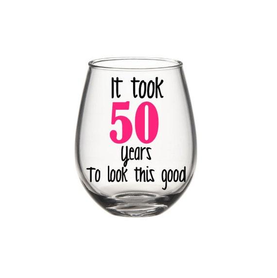 Birthday Wine Glass 50th Birthday Wine Glass By