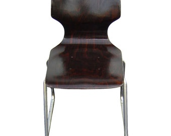 Elmar Flototto Rosewood Side Chair- free shipping within the United States