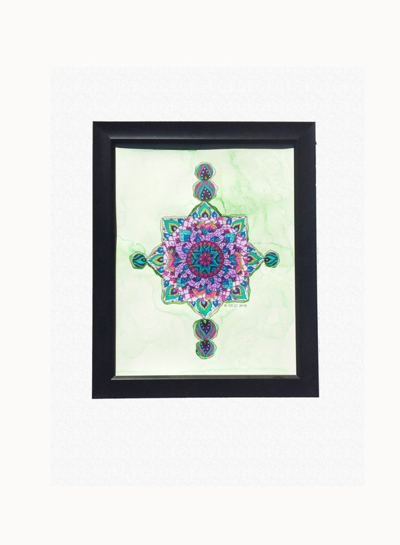 Giclee Art Print Mandala Wall Art Watercolor by wordsremember