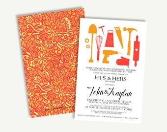 Couples Shower Invitation Digital Download-His & Hers