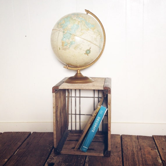 Vintage Globe Boho Home Decor World Map Hipster Home Decor