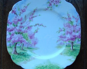Blossom Time - Bread & Butter Plate - Royal Albert Bone China England - Scenic - Trees with Pink Apple Blossoms -Starter/Replacement Pieces