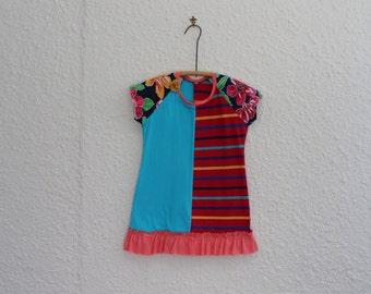 5th Birthday Dress Upcycled Tshirt Dress by cynthiamadeforkids