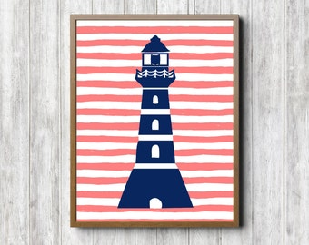 Nautical Nursery Wall Decor nautical girls room | etsy