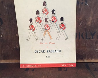 Vintage Piano Sheet Music 1940s March of the Cadets by Oscar Rasbach